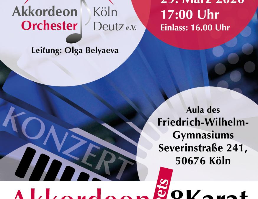 ***ABGESAGT***Frühjahrs-Konzert Akkordeon meets 8Karat
