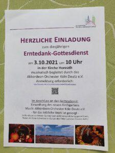 Kirche Honrath Erntedankfest