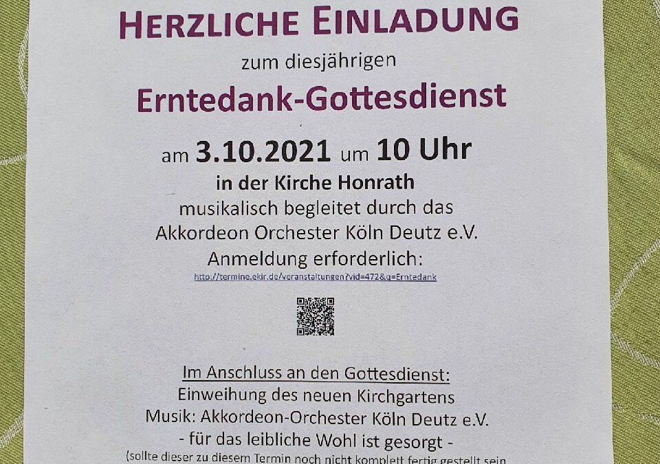 Kirche Honrath, Erntedankfest